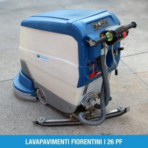 Lavasciuga uomo a terra, robusta, completamente meccanica con doppia spazzola.