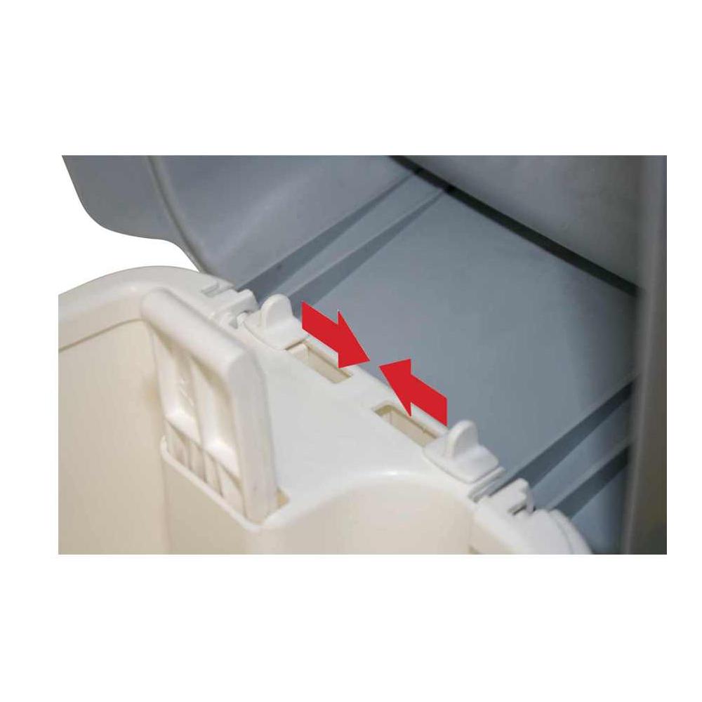 Filmop 0000CO2017DE Desy Contenitore per Assorbenti Igienici con Coperchio e Pedale in Plastica 17 Litri